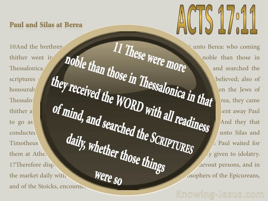 Acts 17:11 They Searched The Scriptures Daily (gold)