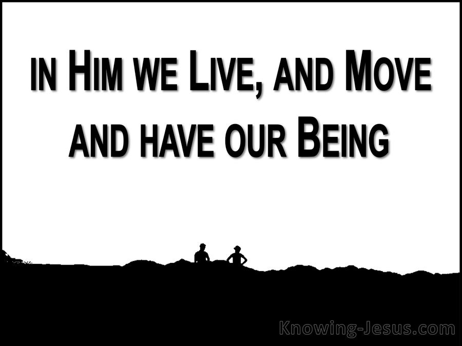 Acts 17:28 In Him We Live And Move (white)