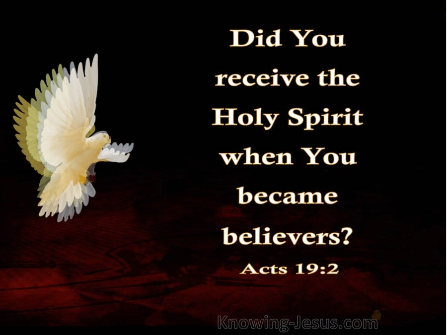 Acts 19:2 Did You Receive the Spirt When You First Believed (white)
