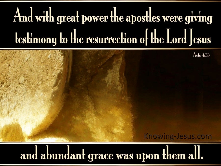Acts 4:33 Testimony Of The Resurrection (brown)