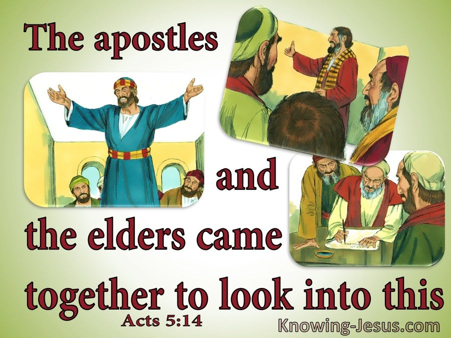 Acts 5:14 The Apostles And Elders Looked Into Circumcision (green)