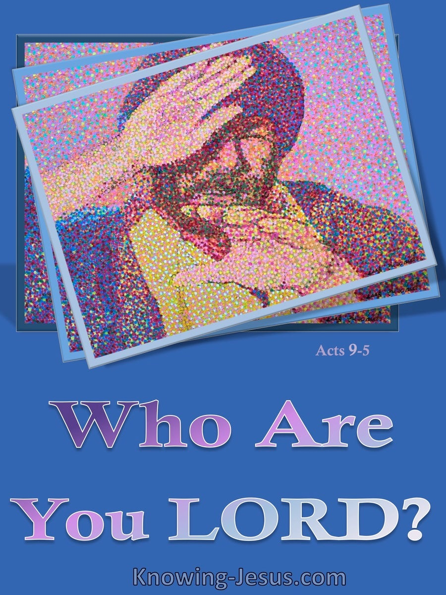 Acts 9:5 Who Are You Lord (blue)