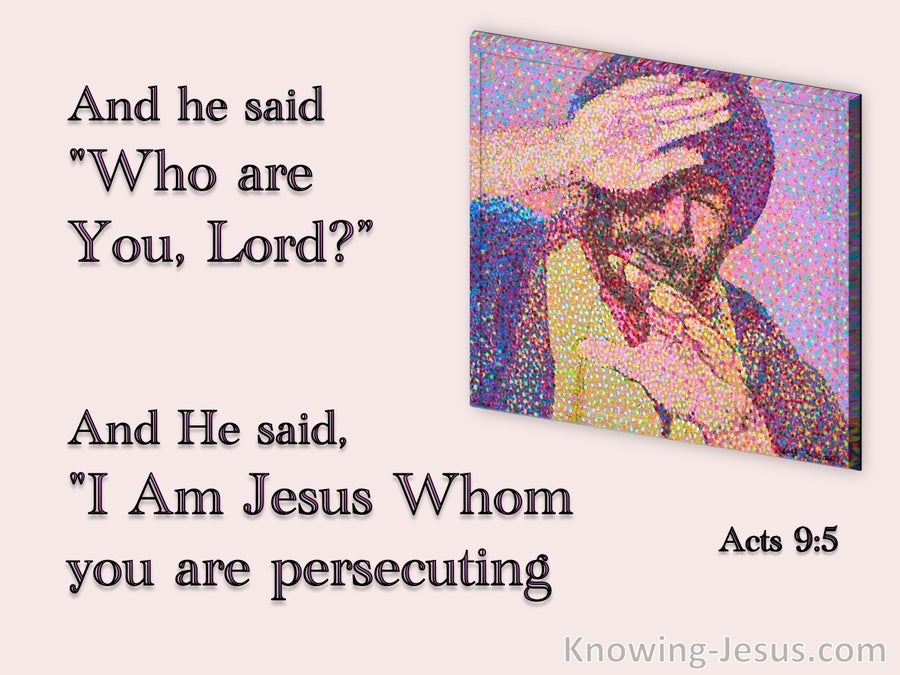 Acts 9:5 Who Are You Lord (pink)