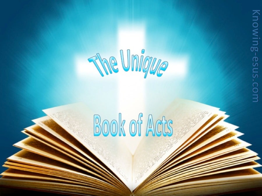 The Unique Book of Acts (devotional) (aqua)