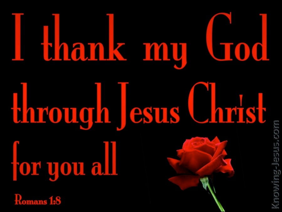 Romans 1:8 I Thank My God For You All (red)