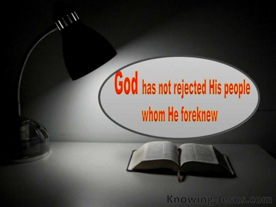 Romans 11:2 God Has Not Rejected His People (black)