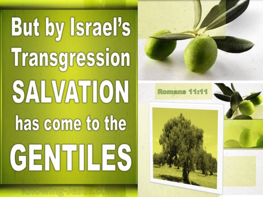 Romans 11:11 Israel Did Not Stumble So As To Fall (green)