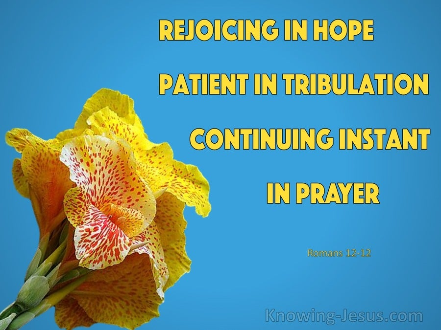 Romans 12:12 Rejoice in Hope (blue)