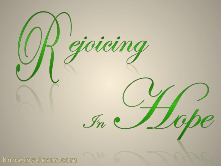 Romans 12:12 Rejoice In Hope (beige)