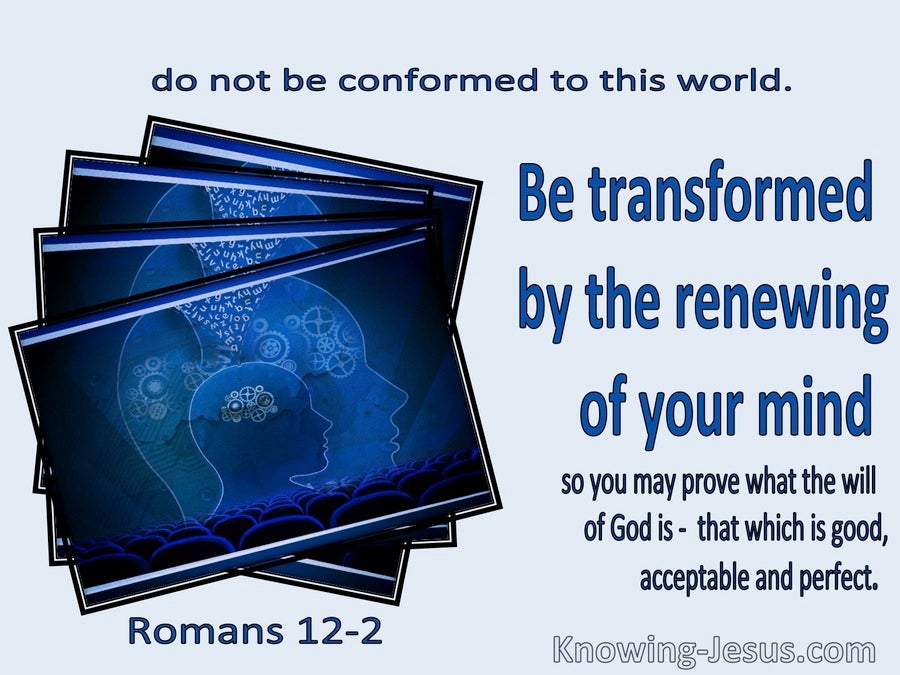 Romans 12:2 Be Transformed By The Renewing Of Your Mind (navy)