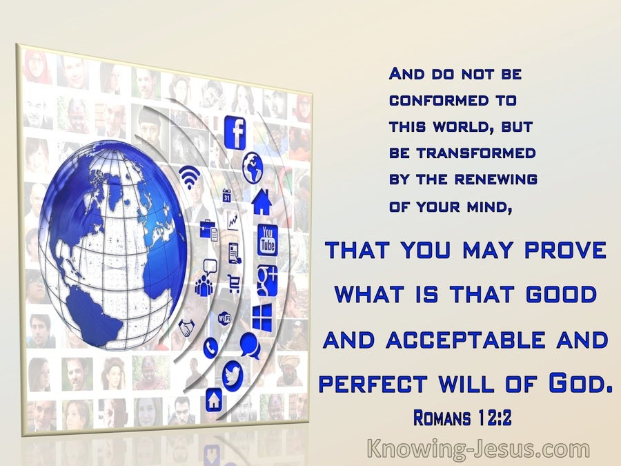 Romans 12:2 Prove What Is Good And Acceptable WIll Of God (beige)