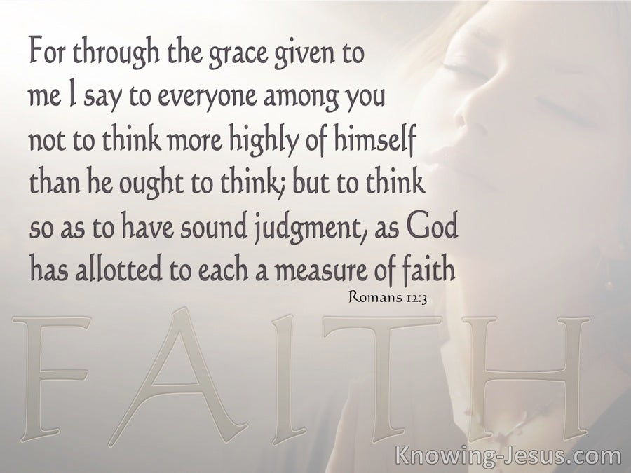 Romans 12:3 A Measure Of Faith (gray)