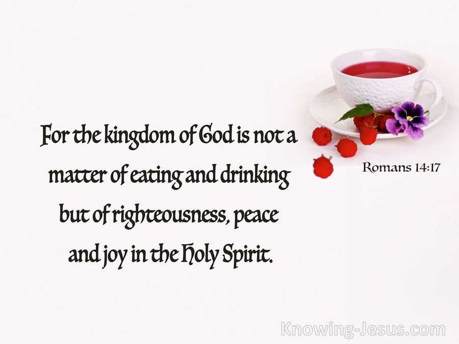 Romans 14:17 Righteousness Peace And Joy (red)