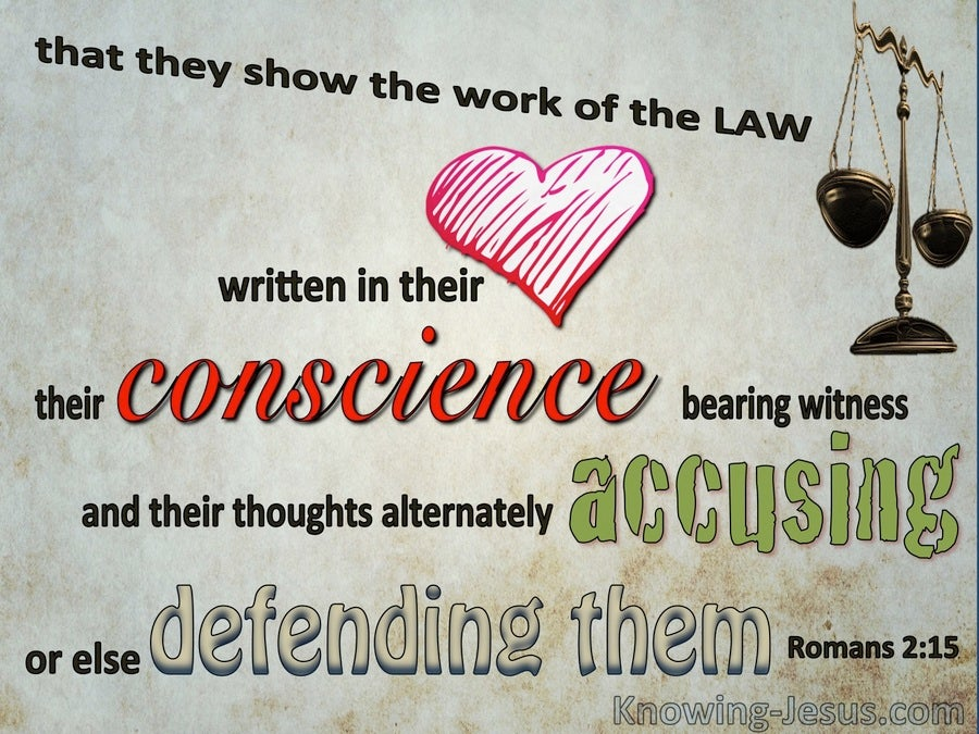 Romans 2:15 The Law Written In Their Consciences (gray)