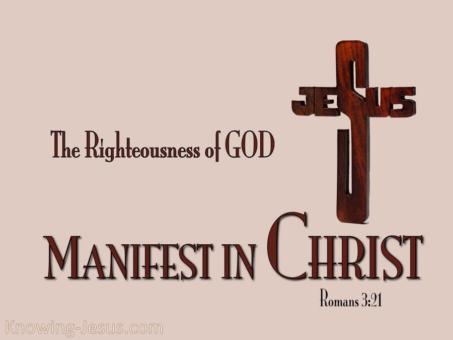 Romans 3:21 Righteousness Of God In Christ (pink)