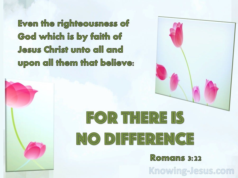 Romans 3:22 Righteousness By Faith In Jesus Christ (blue)