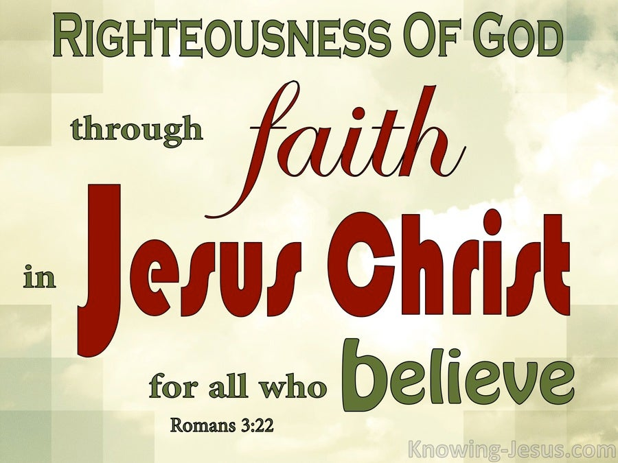 Romans 3:22 Righteousness By Faith In Jesus Christ (red)