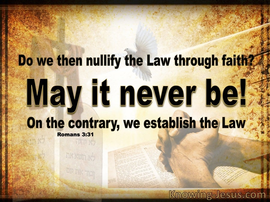 Romans 3:31 The Law Is Established By Faith (brown)