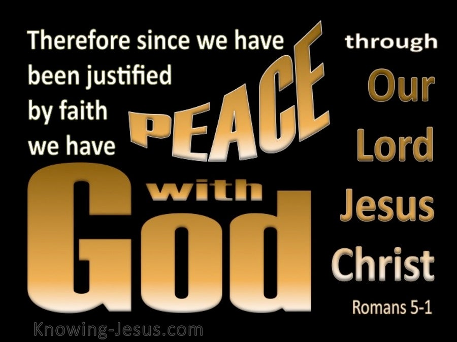 Romans 5:1 Peace With God (gold)