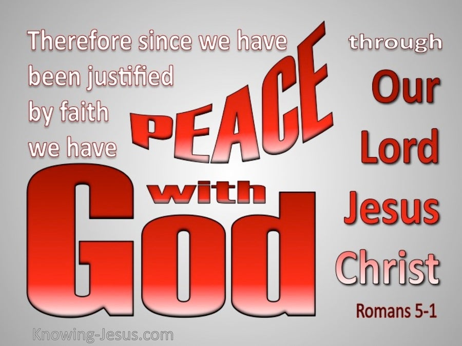 Romans 5:1 Peace With God (gray)