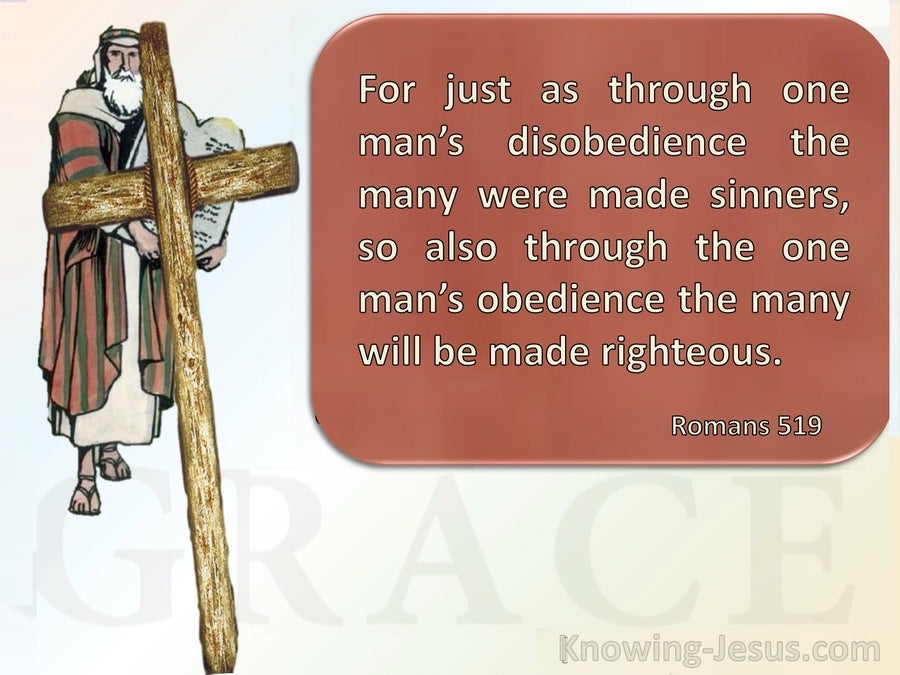Romans 5:19 Thru One Man's Obedience (brown)