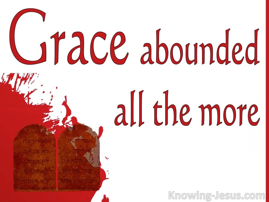 Romans 5:20 Grace Abounded (red)