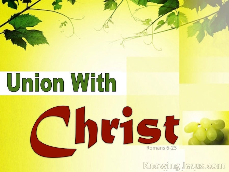 Union With Christ (devotional) (yellow) - Romans 6-23