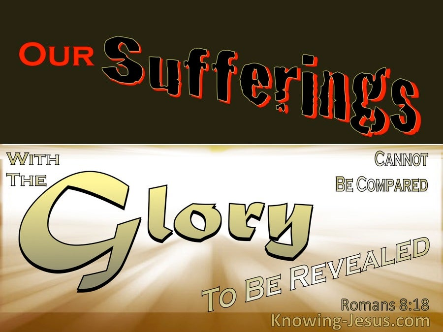 Romans 8:18 Our Suffering And The Glory To Come (gold)