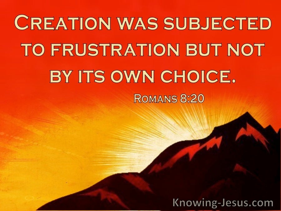 Romans 8:20 Creation Was Subjected To Frustration (windows)08:25