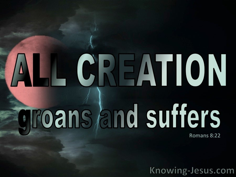 Romans 8:22 The Whole Creation Groans and Suffers (aqua)