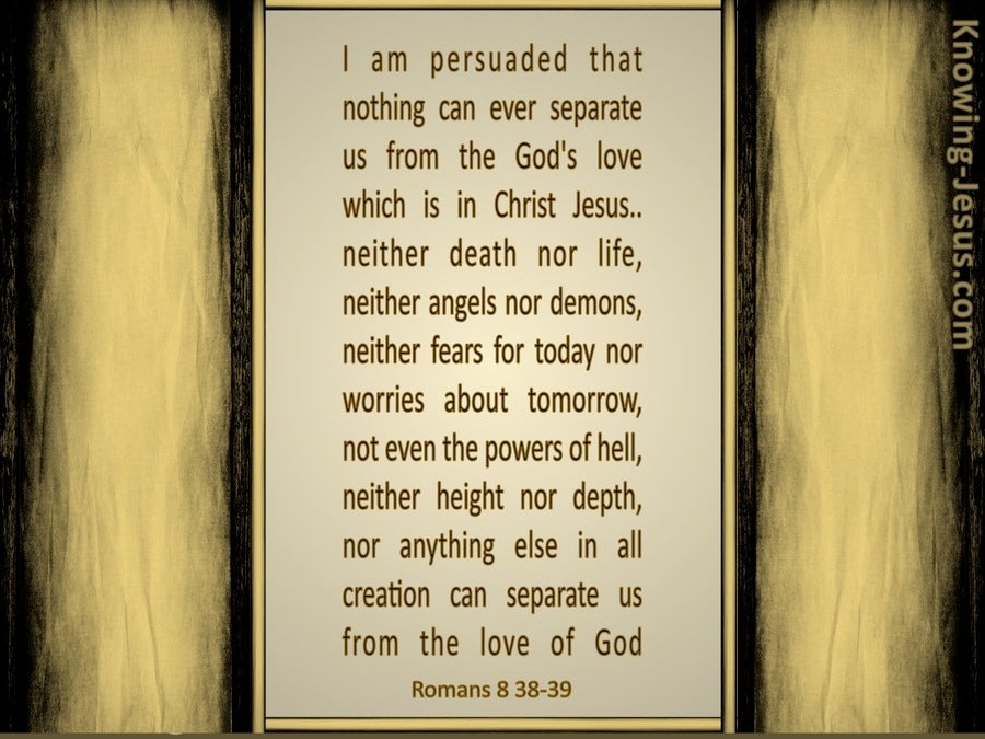 Fear Not That Which is After Death (devotional) (beige) - Romans 8:38