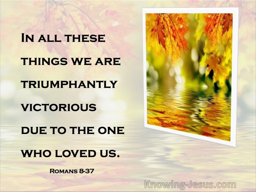 Romans 8:37  In All These Things, We Are More Than Conquerors (yellow)