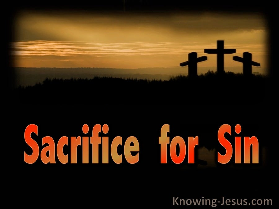 Romans 8:3 Sacrifice for Sin (devotional)09:04 (black)