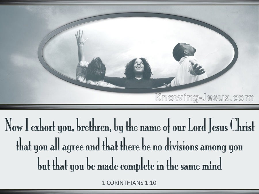 1 Corinthians 1:10 Let There Be No Division Among You (gray)
