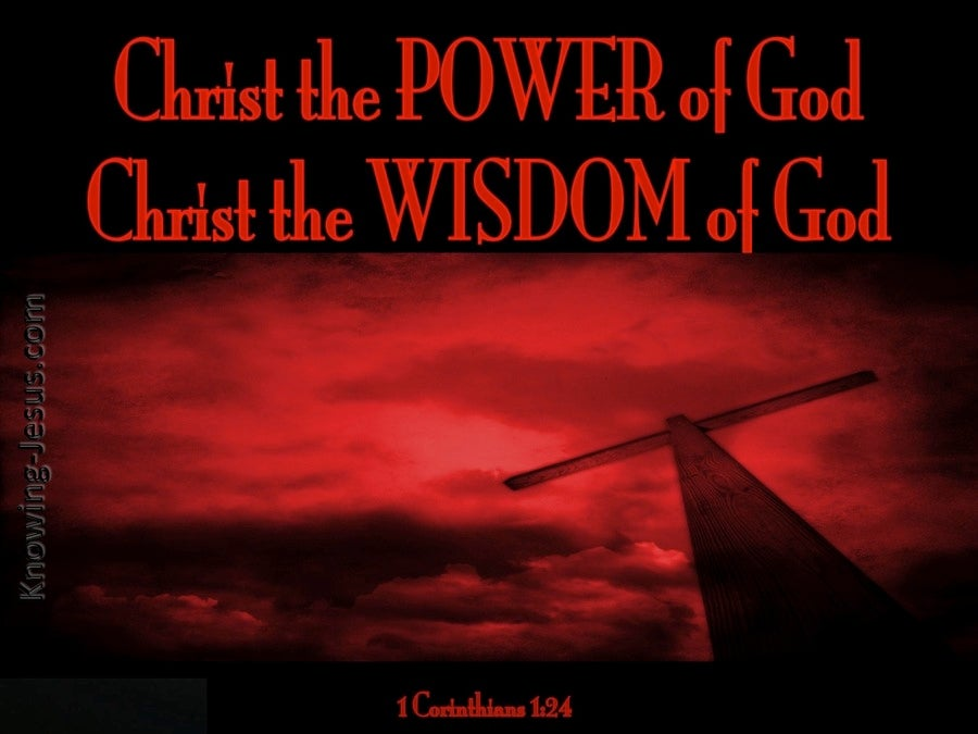 1 Corinthians 1 24 Christ The Power And Wisdom Of God Red