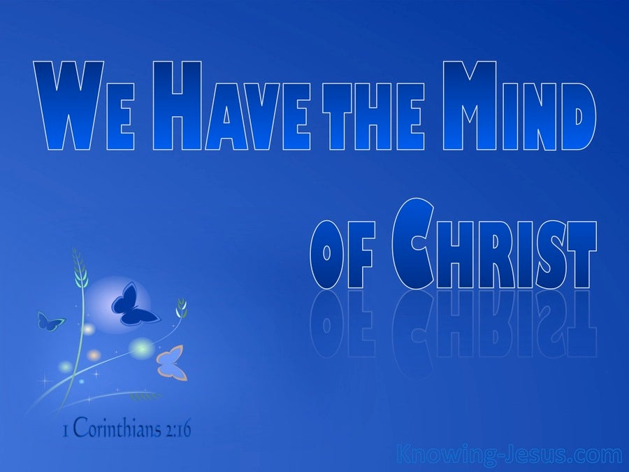 The Mind of Christ (devotional) (blue) - 1 Corinthians 2:16
