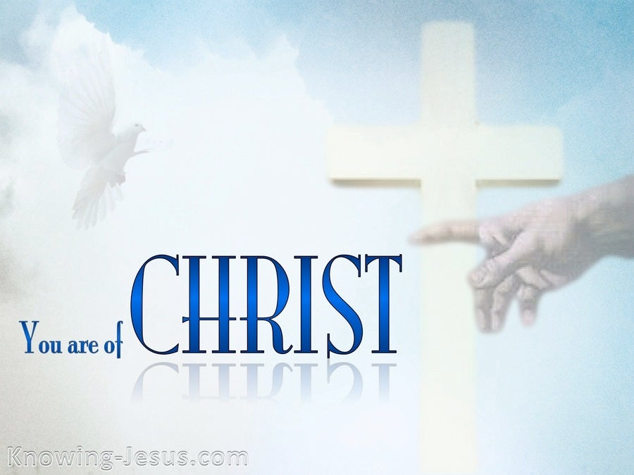 1 Corinthians 3:23 You Are Of Christ (blue)