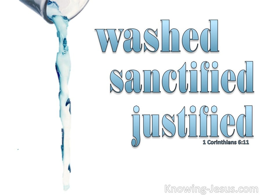 1 Corinthians 6:11 You Were Washed, Sanctified, Justified (white)