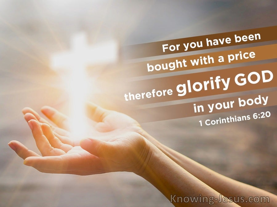 1 Corinthians 6:20 You Have Been Bought With A Price So Glorify God (beige)