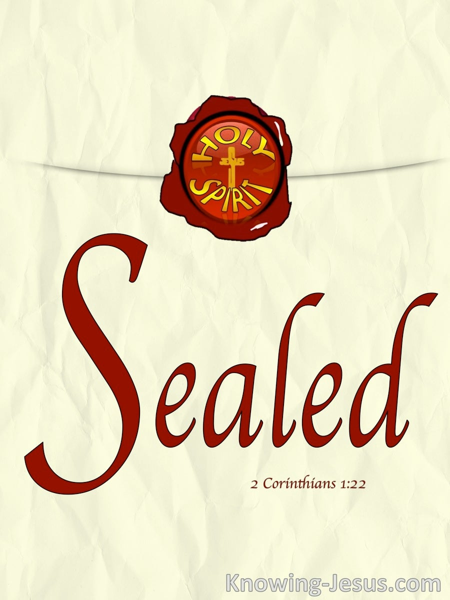 Signed and Sealed (devotional) (cream) - 2 Corinthians 1:22