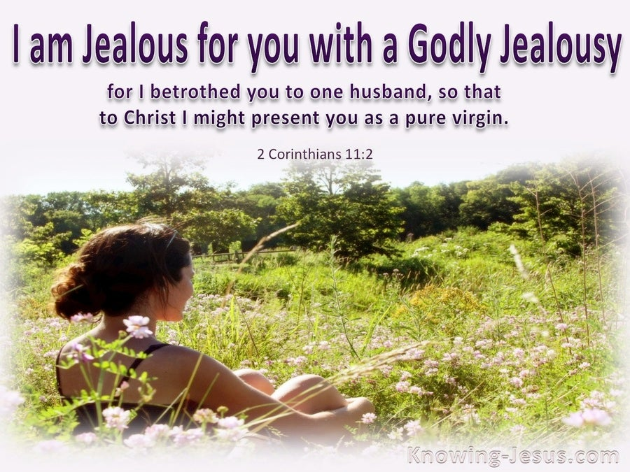 2 Corinthians 11:2 I am Jealous For Your WIth A Godly Jealousy (purple)