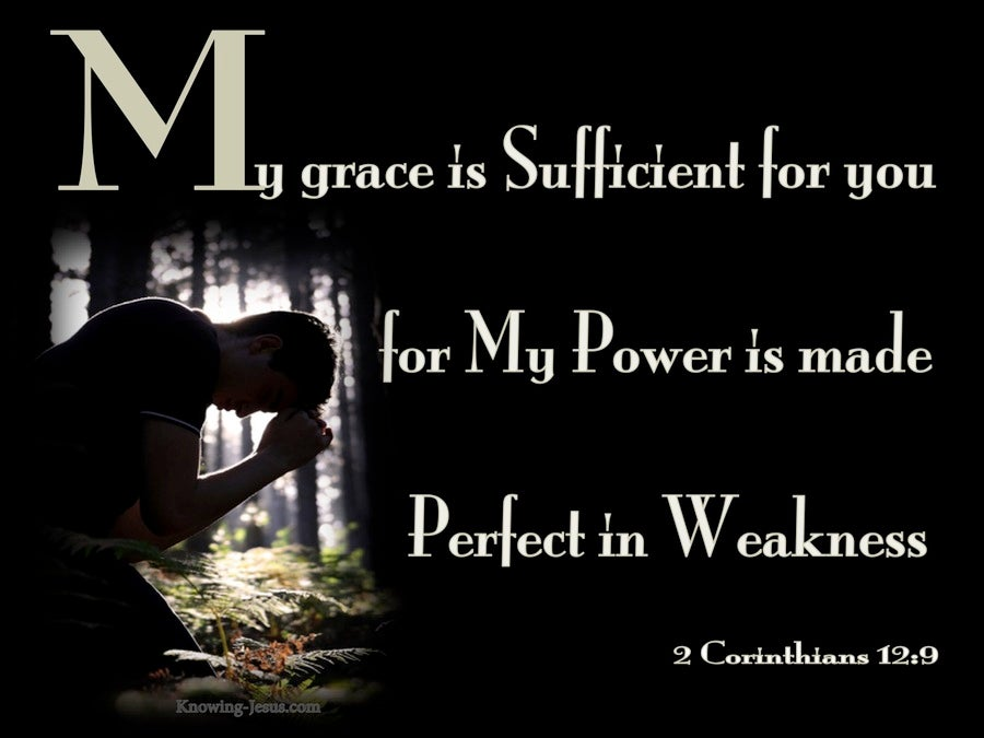2 Corinthians 12:9 My Grace Is Sufficient For You (black)