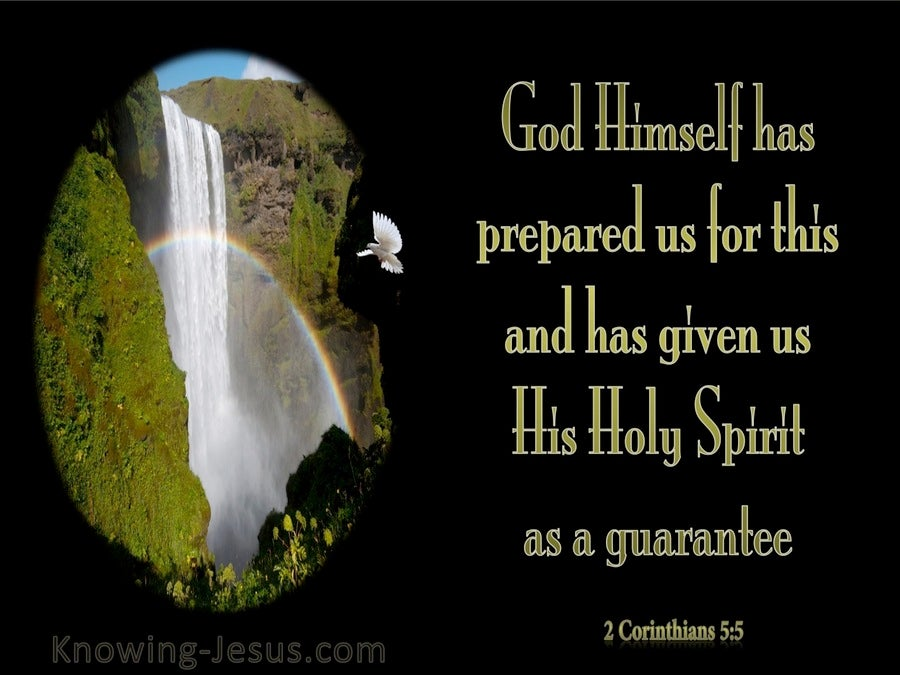 2 Corinthians 5:5 The Holy Spirit Is A Guarantee (green)
