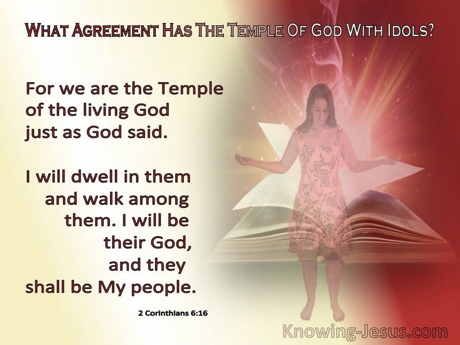 2 Corinthians 6:16 We Are The Temple Of The Living God (red)