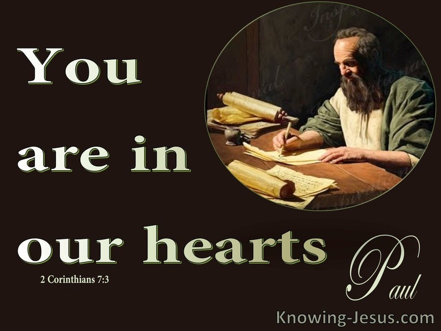 2 Corinthians 7:3 You Are In Our Hearts (brown)