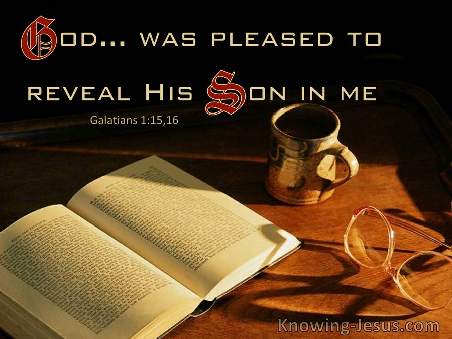 Galatians 1:16 He Was Pleased To Reveal His Son In Me (windows)01:29