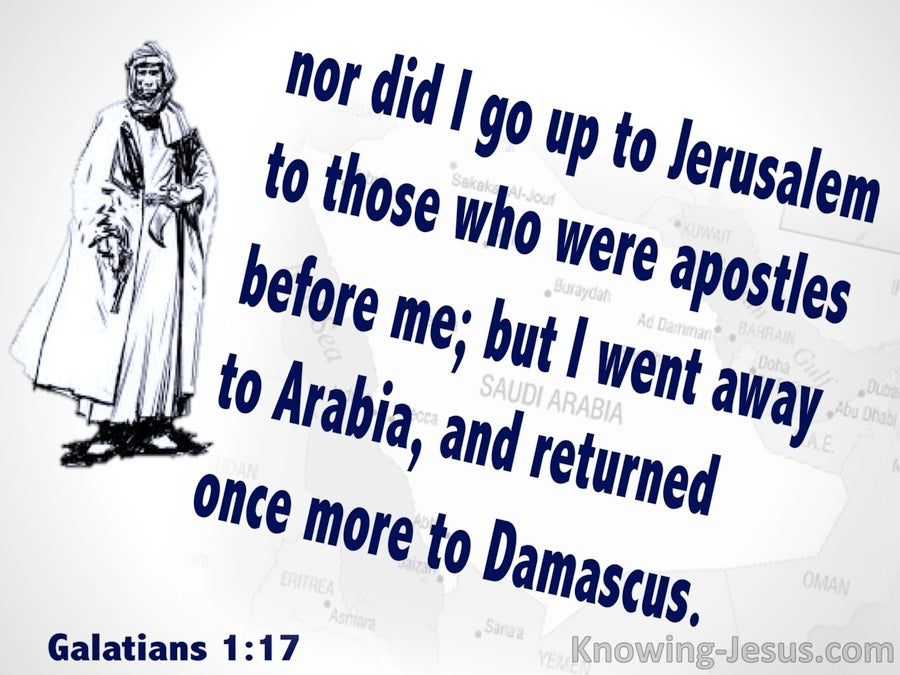 Galatians 1:17 Paul Went To Arabia (white)