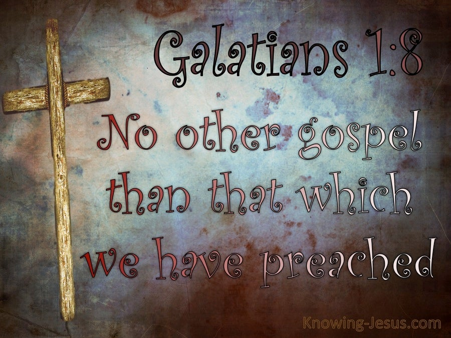 Galatians 1:8 No Other Gospel (purple)