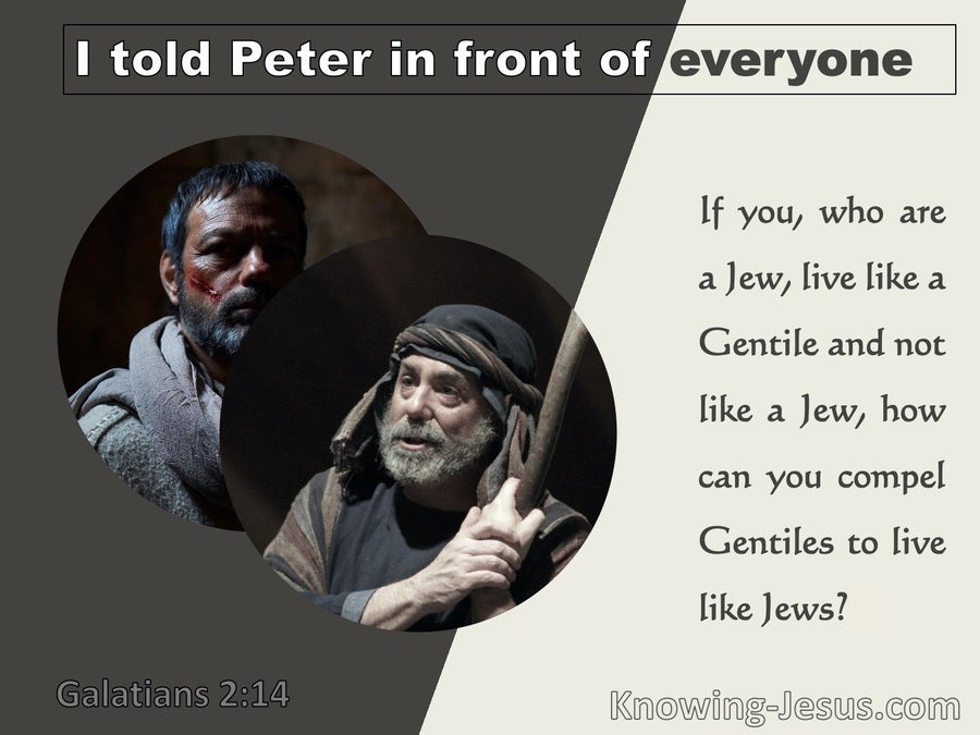 Galatians 2:14 Paul And Peter Deviating From The Truth (beige)