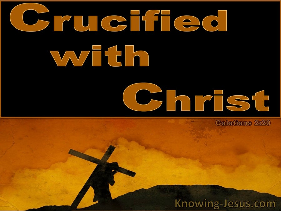Crucified With Christ (devotional) (brown) - Galatians 2:20